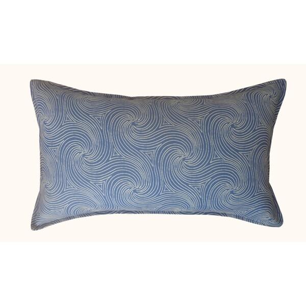 Jiti Outdoor Swirl Blue Long PIllow