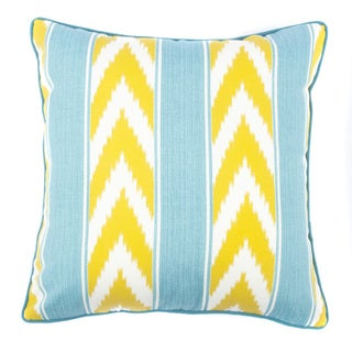 Jiti Ikat Stripe Green 20-inch Outdoor Pillow