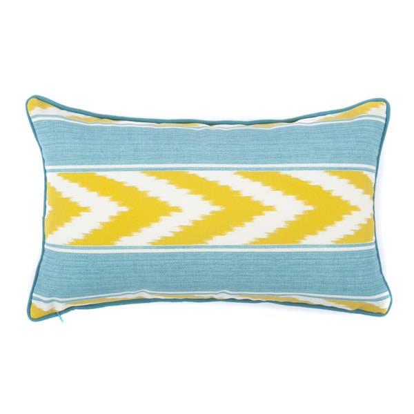 Jiti Ikat Stripe Green Long Outdoor Pillow