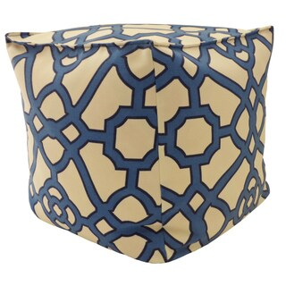 Jiti Octagon Blue 16-inch Outdoor Pouf
