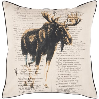Hyde 22-inch Moose Decorative Throw Pillow
