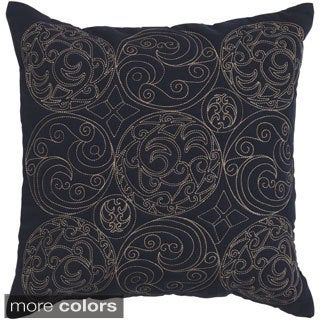 Asa 18-inch Medallion Down or Polyester Filled Throw Pillow