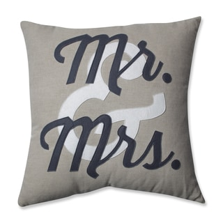 Pillow Perfect Mr. & Mrs. 18-inch Throw Pillow