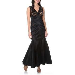 R&M Richards Women's Sequined Lace/ Taffeta Mermaid Gown