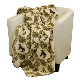 Denali Horses of Course sage Micro-plush Throw Blanket
