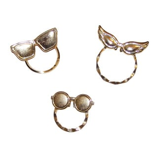 Detti Originals SPEC Glasses Pins Silvertone 3-piece Spectacle Brooch Set