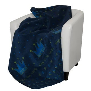 Denali King of the Castle royal blue Micro-plush Throw Blanket
