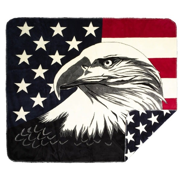Denali Eagle Stars Micro-plush Throw Blanket
