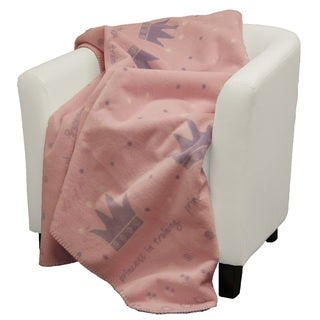 Denali Princess in Training Pink soft purple Micro-plush Throw Blanket