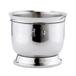 Stainless Steel Double-walled Wine Cooler with Tie-knot Accent