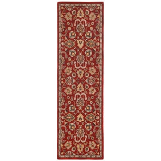 Hand Tufted Salvador Red Wool Runner (2.5'x8')