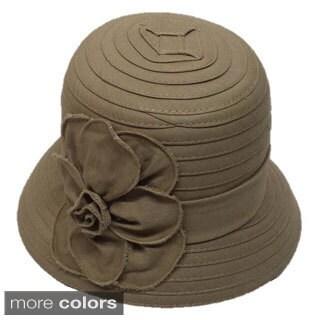Swan Hat Women's Swan Lightweight Denim Ribbon Cloche Hat