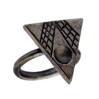 Bita Pourtavoosi Gun Metal Plated Mola Stack Ring