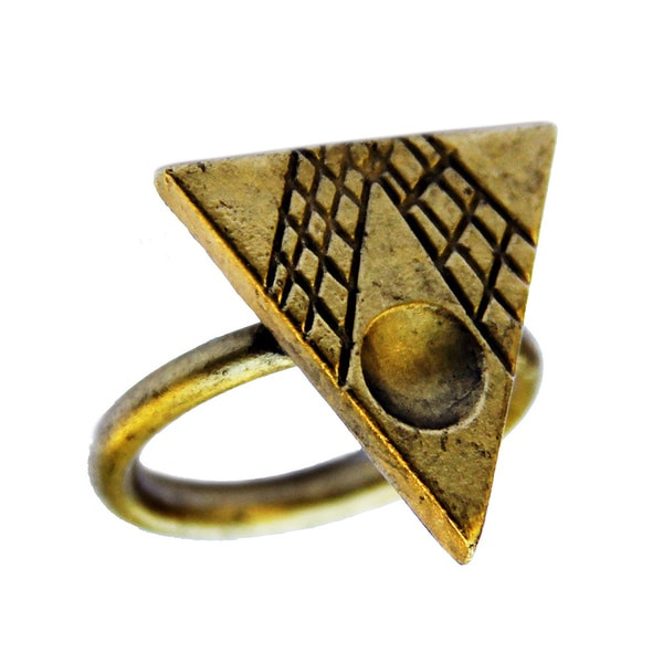 Bita Pourtavoosi Antique Gold Plated Mola Stack Ring