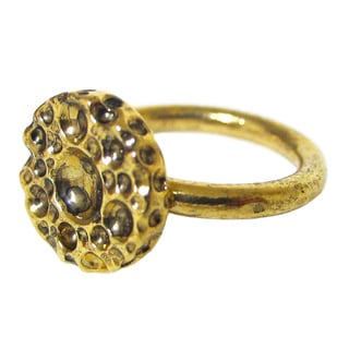 Bita Pourtavoosi Antique Gold Plated Stackable Ring