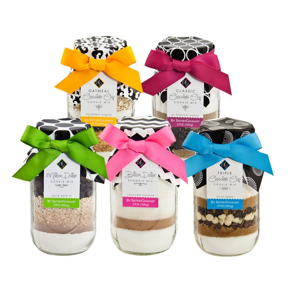 Sisters' Gourmet 'Mason Chocolate Lovers' Layered Baking Mixes (Set of 5)