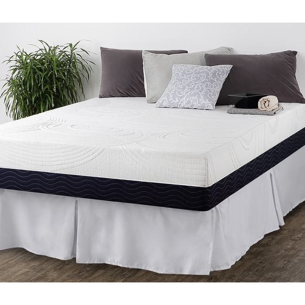 Priage 11-Inch Twin-size Hybrid Spring and Gel Memory Foam Mattress with SmartBase Foundation Set