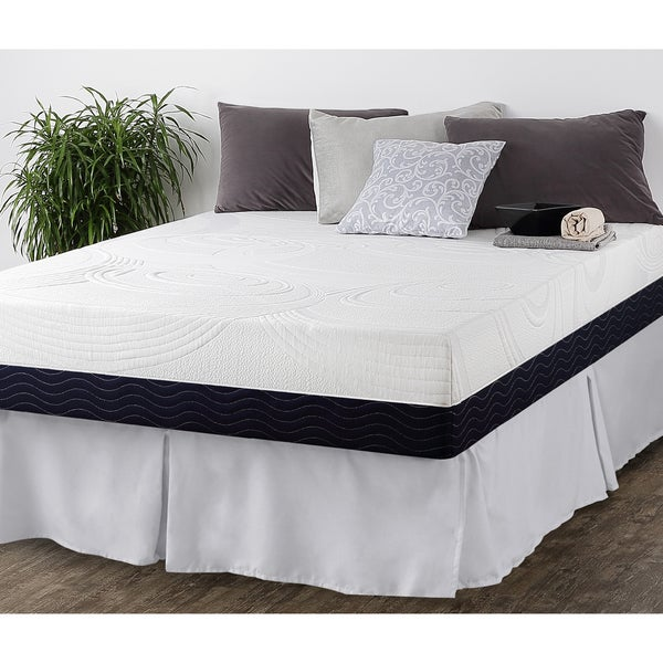 Priage 11-Inch Queen-size Hybrid Spring and Gel Memory Foam Mattress with SmartBase Foundation Set