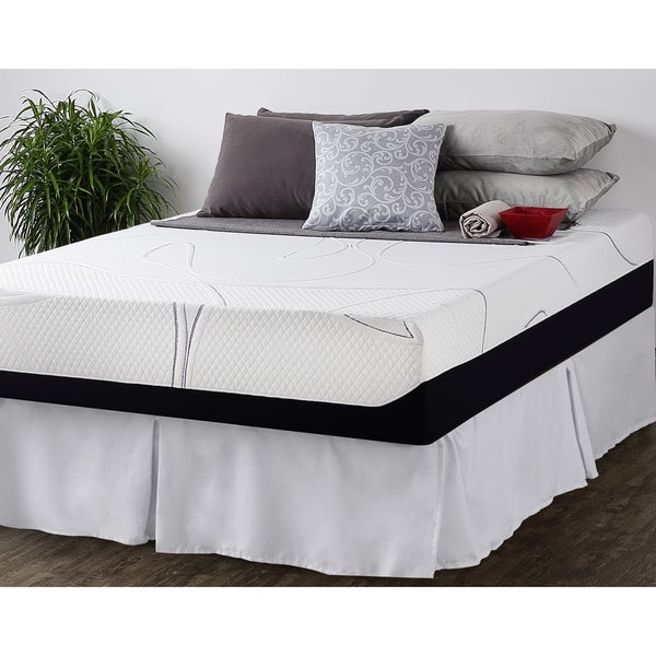 Priage 12-inch Queen-size Gel Memory Foam Mattress and SmartBase Foundation Set