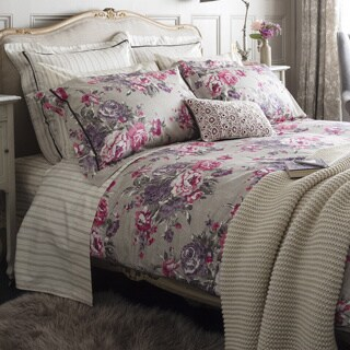 Christy of England Bloomsbury Plum Bed Linen Duvet Cover