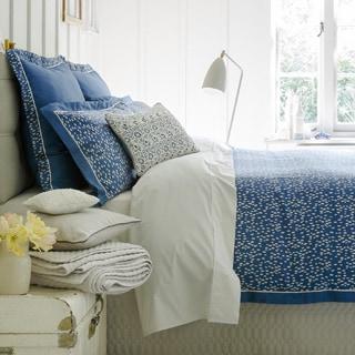 Christy of England Evelyn Petrol Blue Bed Linen Duvet Cover