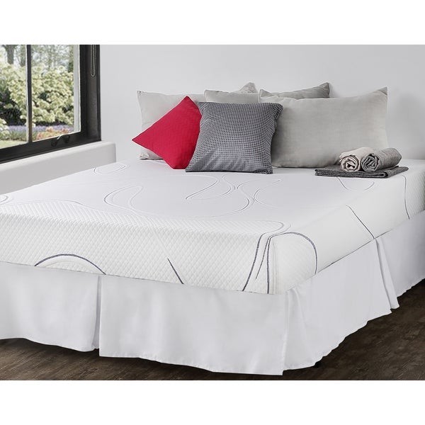Priage 8-inch Twin-size Gel Memory Foam Mattress and SmartBase Foundation Set