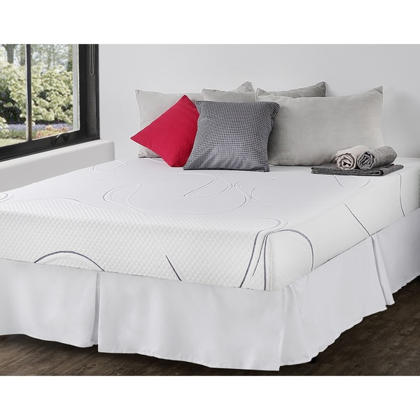 Priage 8-inch King-size Gel Memory Foam Mattress and SmartBase Foundation Set