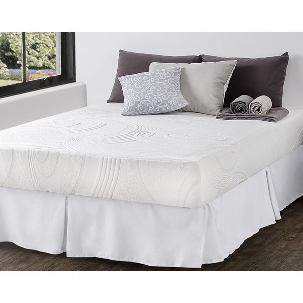 Priage 9-inch Twin-size Hybrid Spring and Gel Memory Foam Mattress with SmartBase Foundation Set