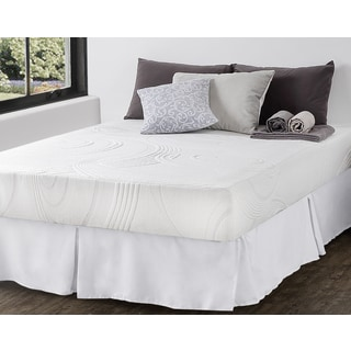 Priage 9-inch Queen-size Hybrid Spring and Gel Memory Foam Mattress with SmartBase Foundation Set