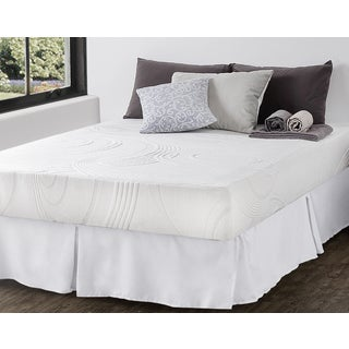 Priage 9-inch King-size Hybrid Spring and Gel Memory Foam Mattress with SmartBase Foundation Set