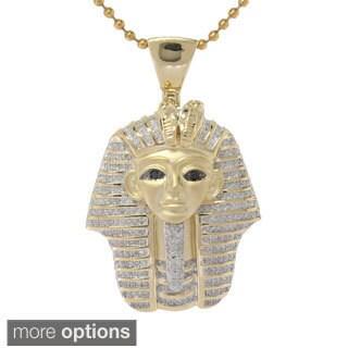 Sterling Silver 1.2ct TDW Diamond Egyptian Mummy Heat Pendant (G-H, I2- I3)