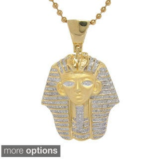 Sterling Silver 0.95ct TDW Diamond Egyptian Mummy Heat Pendant (G-H, I2- I3)