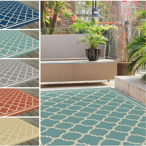 Alise Garden Town Moroccan Tile Area Rug (7'10 X 10'3