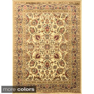 Jewel Traditional Floral Area Rug (5'2 x 7'2)