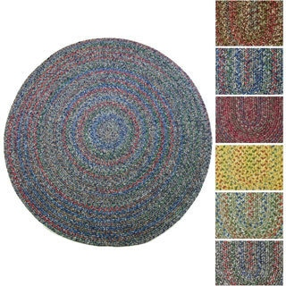 Sophia Indoor/ Outdoor Braided Reversible Round Rug (4' x 4')