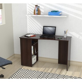 Inval America Espresso Curved Top Writing Desk
