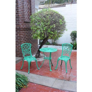 Somette Ivy Green Cast Aluminum Outdoor 3-piece Bistro Set