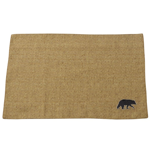 HiEnd Accents Ashbury Black Bear Placemat (Set of 4)
