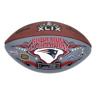 Super Bowl XLIX Patriots 4x Championship Autograph Football