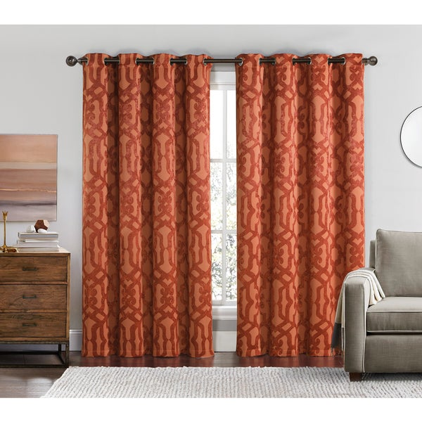 VCNY Becket 84-inch Blackout Grommet Top Curtain Panel Pair - 17106108 ...