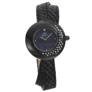 Yonger Women's Soleil DCN1465/01 Black Leather Double Strap Watch (As Is Item)