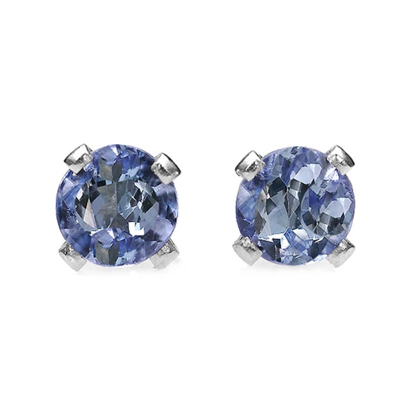 10k White Gold Violet Tanzanite .20 TGW Earrings