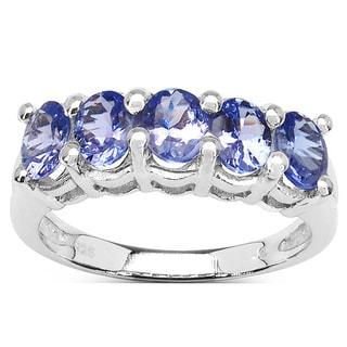 Olivia Leone Sterling Silver Violet Tanzanite 1.6ct TGW Ring