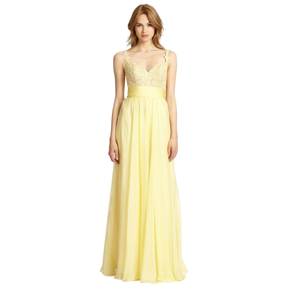 Yellow Evening Dresses By La Femme 97