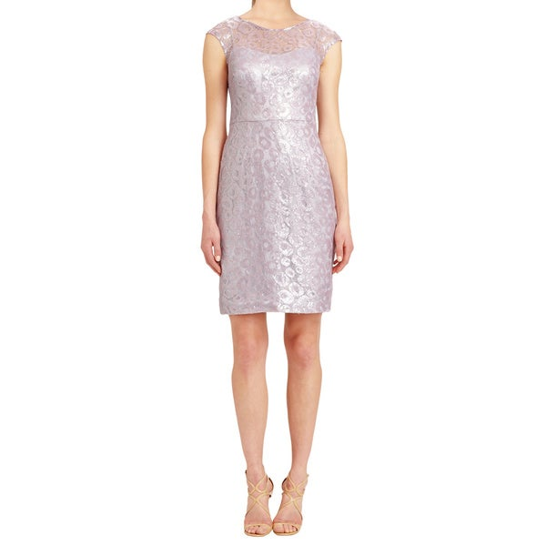 Kay Unger Matte Lilac Shimmery Cocktail Dress