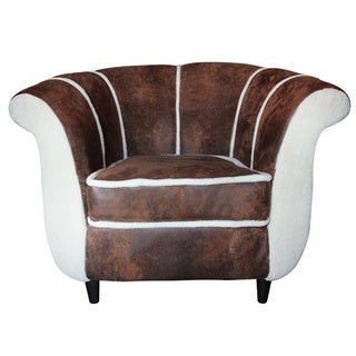 Maverick Distressed Lambswool Club Chair