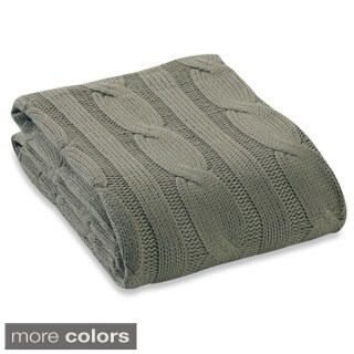 Soft 100-pecent Cotton Knitted Throw