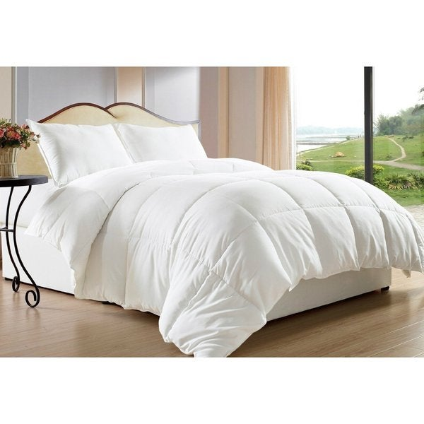Clara Clark All-season Down Alternative White Comforter Set