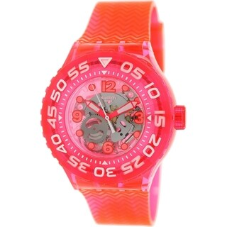 Swatch Women's Originals SUUP100 Neon Pink Rubber Swiss Quartz Watch