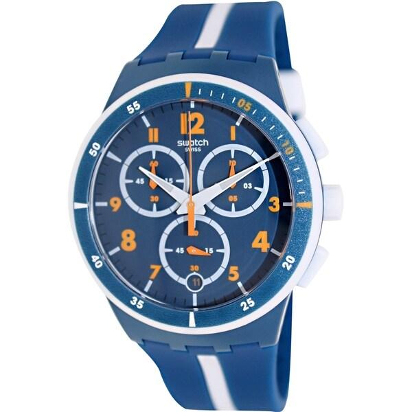 Swatch Men's Originals SUSN403 Blue Plastic Swiss Quartz Watch 14988290